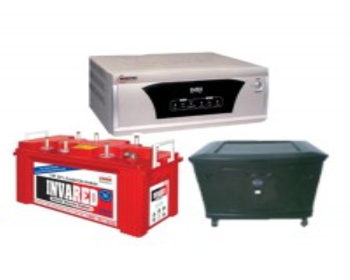MICROTEK UPS EB 900VA (12V) + EXIDE INVARED 350+ (100AH BATTERY) + PLASTIC TROLLEY