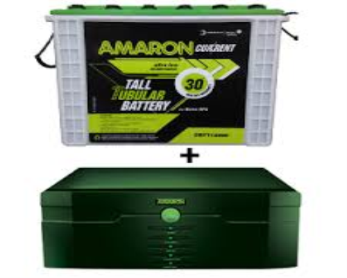 Amaron 880VA Pure Sine Wave HUPS + Amaron CRTT 150AH Tall Tubular Battery + Cabinet Trolly